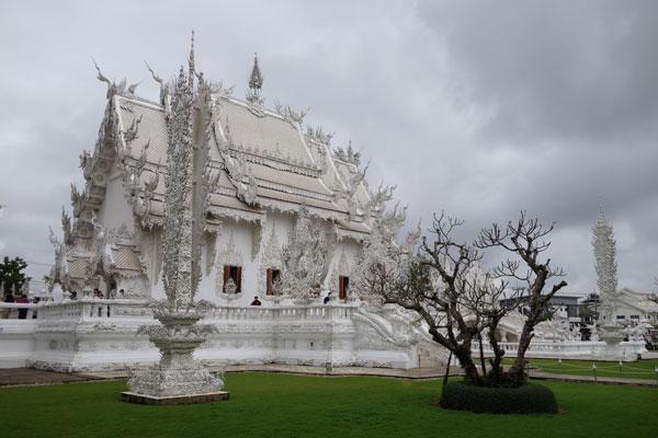 Reisebericht Thailand Sehenswürdigkeiten Tagesausflug von Chiang Mai weißer Tempel