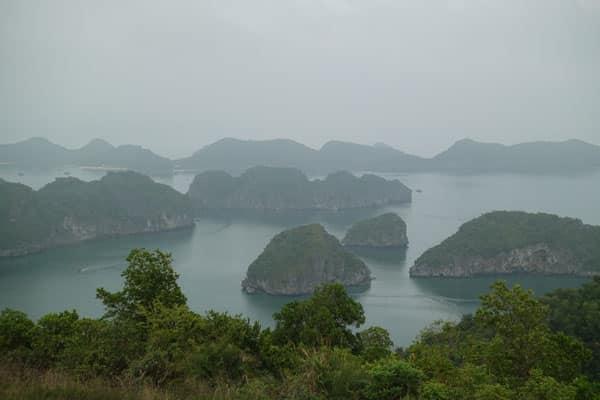 Reisebericht Vietnam Sehenswürdigkeiten Halong Bay Han La Bay und Cat-Ba Cannon-Fort-Aussicht Cafe