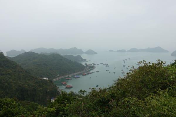 Reisebericht Vietnam Sehenswürdigkeiten Halong Bay Han La Bay und Cat-Ba Cannon-Fort-Aussicht-West-Observatory
