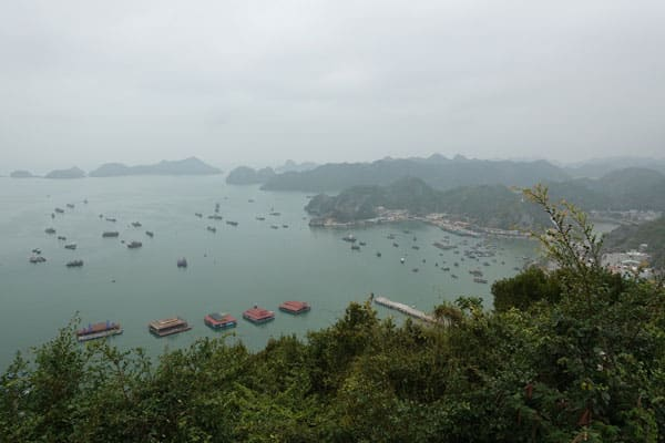 Reisebericht Vietnam Sehenswürdigkeiten Halong Bay Han La Bay und Cat-Ba Cannon-Fort-Aussicht