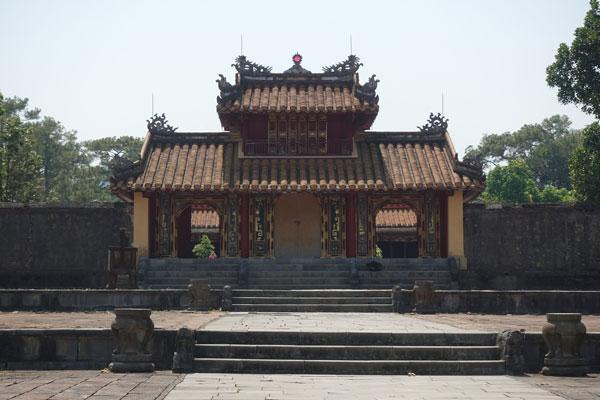 Reisebericht Vietnam Sehenswürdigkeiten Hue Minh Mang Tomb Stelenpavillion