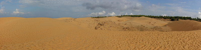 Vietnam Mui Ne Sunrise Sanddünen Tour rote Dünen
