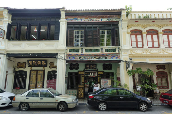 Georgetown Penang Malaysia alte Häuserfront