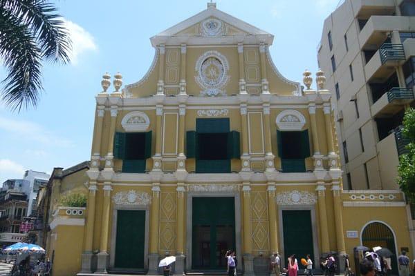 Macau Sehenswürdigkeiten Heritage Trail Dominic Church