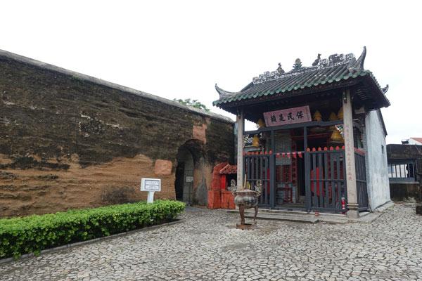 Macau Sehenswürdigkeiten Heritage Trail Alte Stadtmauer und Na-Tcha Tempel