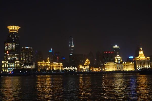 Shanghai Sehenswürdigkeiten Pudong Lujiazui Uferpromenade