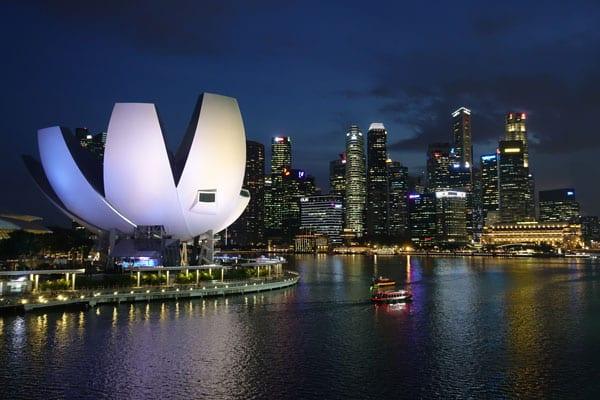 Singapur Sehenswürdigkeiten Marina Bay Walkway