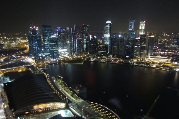 Singapur Sehenswürdigkeiten Marina Bay Sands Skydeck