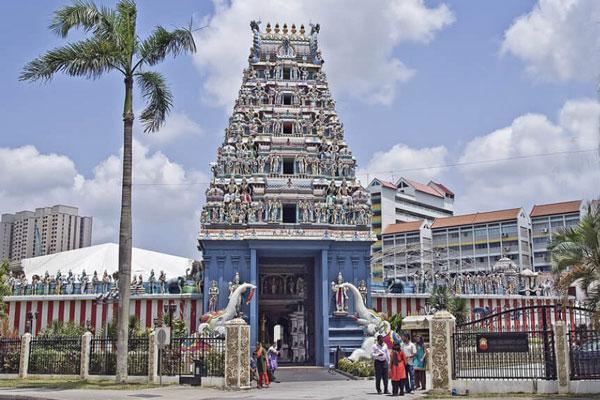 Singapur Sehenswürdigkeiten indisches Viertel Sri Srinivasa Permual Tempel