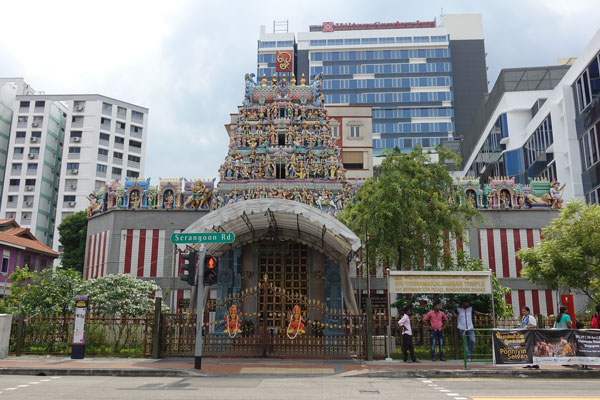 Singapur Sehenswürdigkeiten indisches Viertel Sri Veeramakaliamman Tempel