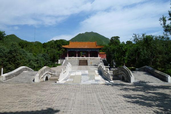 Chinesische Mauer Badaling Peking Ming Tombs Ling'en Hall