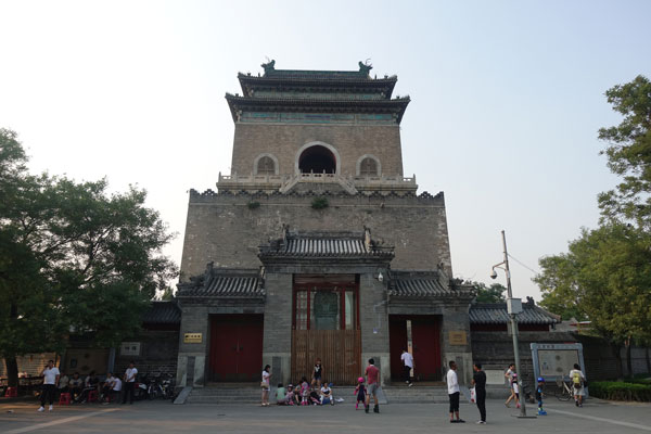 Peking Sehenswürdigkeiten Bell Tower Glockenturm