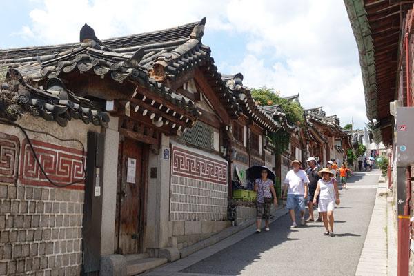 Seoul Sehenswürdigkeiten Bukchon Hanok Village