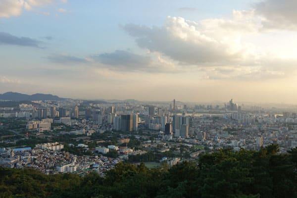 Seoul Sehenswürdigkeiten N Seoul Tower Aussichtsplattform