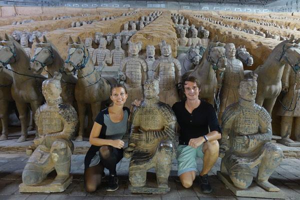 Xian Sehenswürdigkeiten Terrakotta Armee
