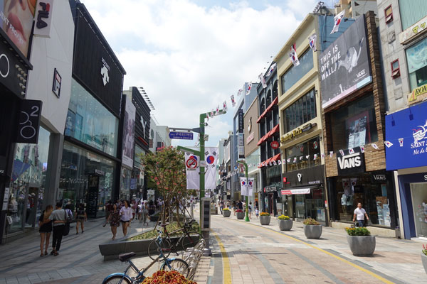 Busan Sehenswürdigkeiten Gwangbokdong Shopping Street
