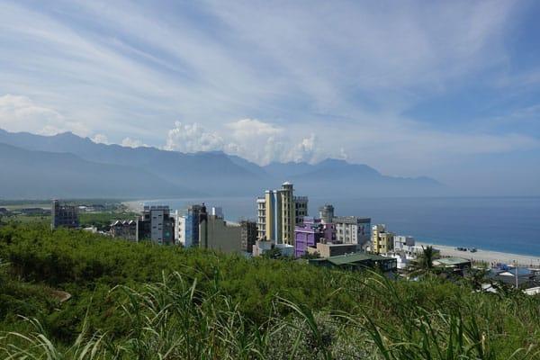 Hualien Taiwan Fahrradtour entlang der Ostküste Weg zum Qixintan Beach