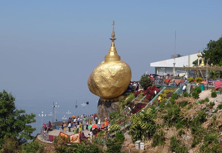 Der golden Rock – ein Tagesausflug von Yangon