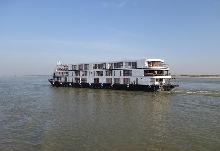 Unsere Schifffahrt von Mandalay nach Bagan