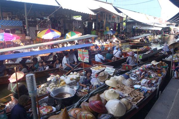 Reisebericht Thailand Schwimmende Märkte Tagesausflug Bangkok