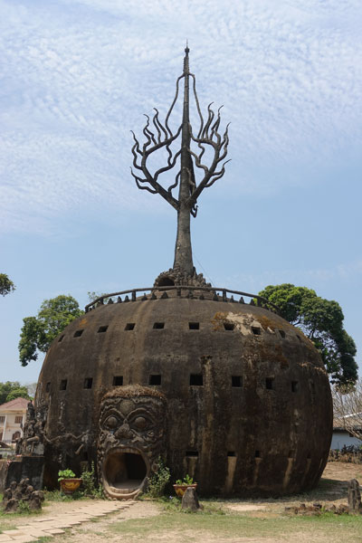 Reisebericht Laos Sehenswürdigkeiten Vientiane Tagesausflug Buddha Park