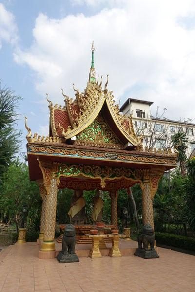 Reisebericht Laos Sehenswürdigkeiten Vientiane-Inpeng-Tempel