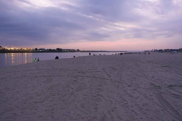 Reisebericht Laos Sehenswürdigkeiten Vientiane-Mekong-Uferstrand-Sonnenuntergang