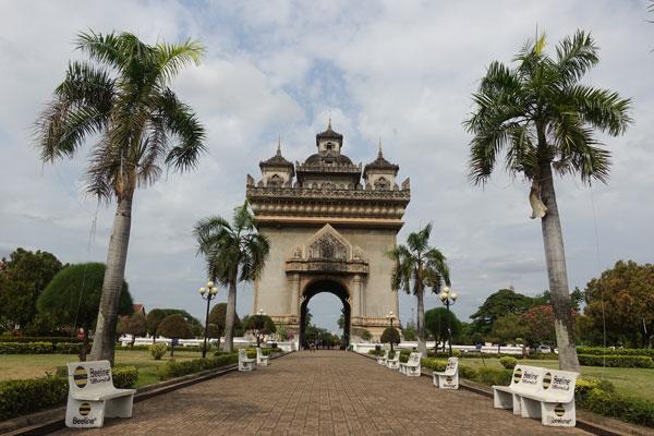 Reisebericht Laos Sehenswürdigkeiten Vientiane-Patuxai