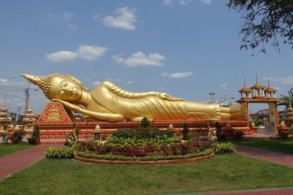 Reisebericht Laos Sehenswürdigkeiten Vientiane-Wat-That-Luang