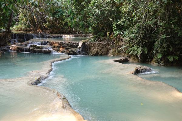 Reisebericht Laos Sehenswürdigkeiten Luang-Prabang-Kuang-Si-Waterfall
