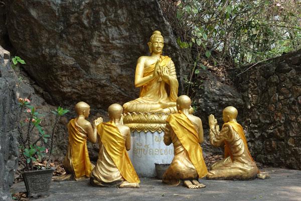 Reisebericht Laos Sehenswürdigkeiten Luang-Prabang-Phousi-Hill-Wat-Thammo