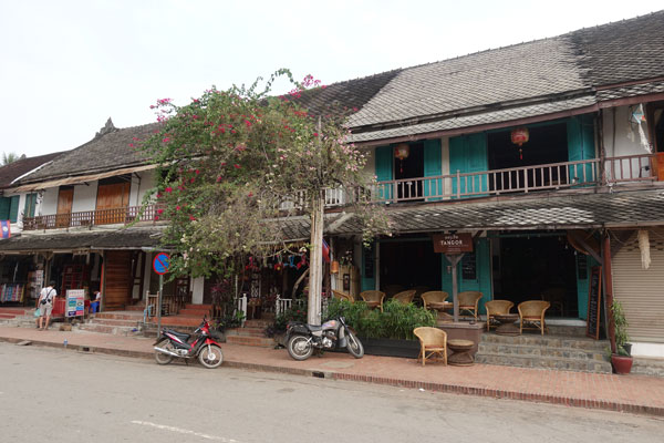 Reisebericht Laos Sehenswürdigkeiten Luang-Prabang-Tourist-Street