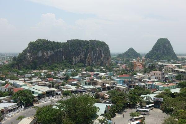 Reisebericht Vietnam Sehenswürdigkeiten Fahrt von Hue nach Hoi an über Da Nang Marble Mountain