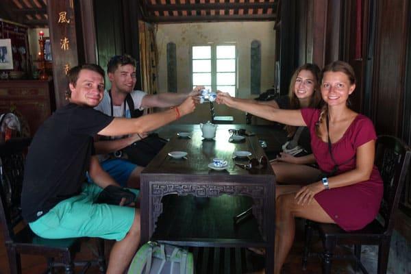 Reisebericht Vietnam Sehenswürdigkeiten Hue An Hien Garden House Teatime
