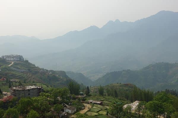 Reisebericht Vietnam Sehenswürdigkeiten Sapa Ausblick-Hotel