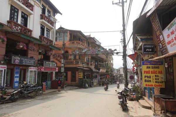 Reisebericht Vietnam Sehenswürdigkeiten Sapa Stadtbild