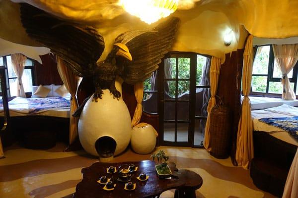 Reisebericht Vietnam Sehenswürdigkeiten Da Lat Crazy House (Verücktes Haus von Hang Nga) Hotelzimmer