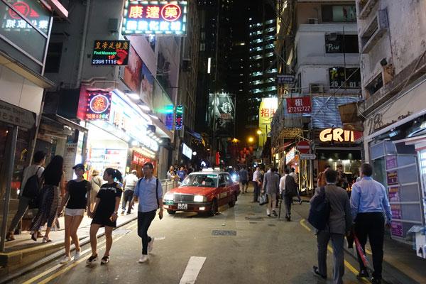 Hongkong Sehenswürdigkeiten Hongkong Island Lan Kwai Fong