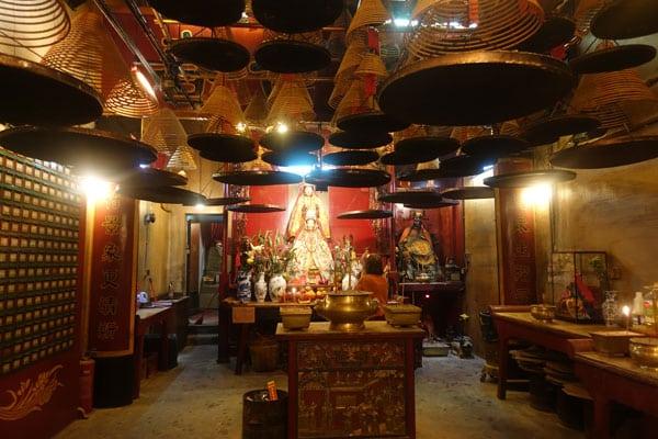 Hongkong Sehenswürdigkeiten Hongkong Island Man Mo Tempel