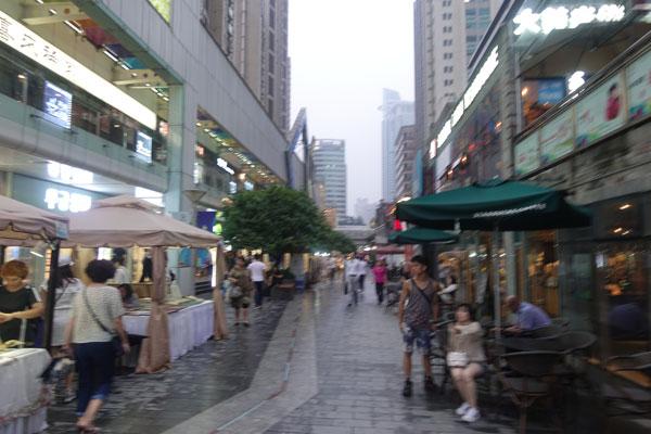 Shanghai Sehenswürdigkeiten Foodstreet West Nanjing Road