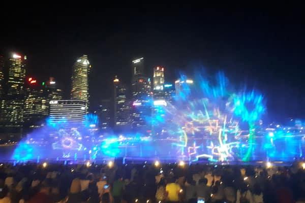 Singapur Sehenswürdigkeiten Marina Bay Light Show