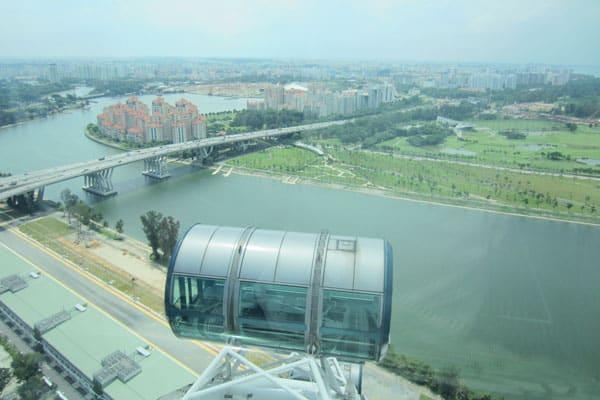 Singapur Sehenswürdigkeiten Marina Bay Singapur Flyer
