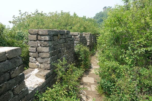 Chinesische Mauer Mutianyu Peking Abschnitt alte Mauer
