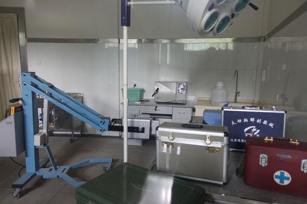 Pandabären in Chengdu Pandaaufzuchtsstation Einrichtungen Krankenhaus