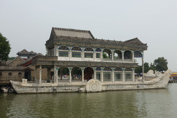 Peking Sehenswürdigkeiten Neuer Sommerpalast Shi Fang Marble Ship