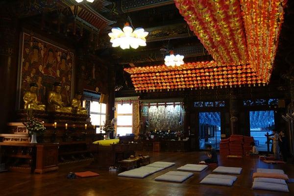 Seoul Sehenswürdigkeiten Stadtviertel Gangnam Bongeunsa Temple