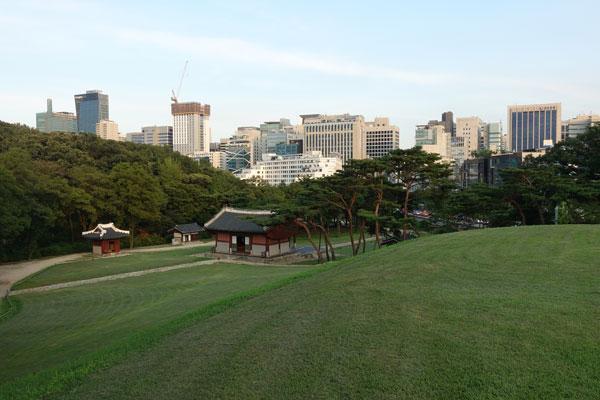 Seoul Sehenswürdigkeiten Stadtviertel Gangnam Seonjeongneung Royal Tombs