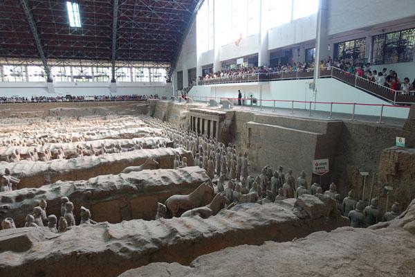 Terrakotta Armee Xian Ausgrabungsstätte Pit 1