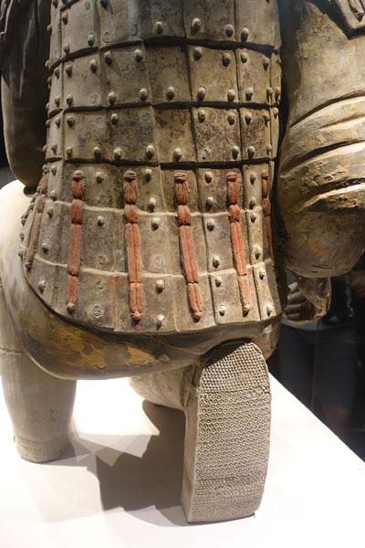 Terrakotta Armee Xian Ausgrabungsstätte Pit 2 Archer Bogenschütze von hinten
