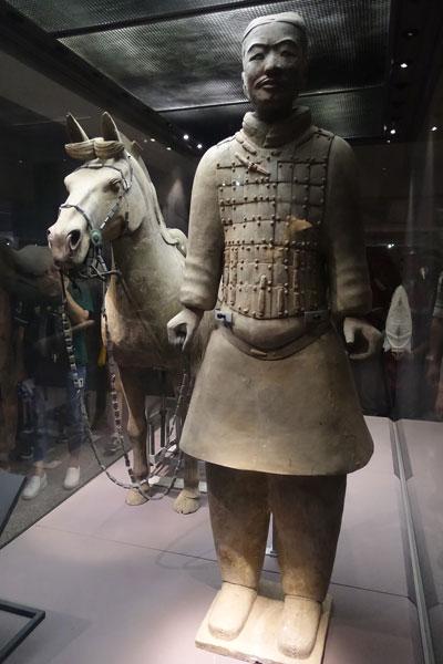 Terrakotta Armee Xian Ausgrabungsstätte Pit 2 Kavallerie mit Pferd